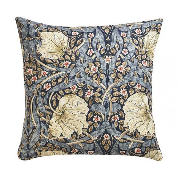 William Morris Gallery Pimpernel Blue Square Filled Cushions