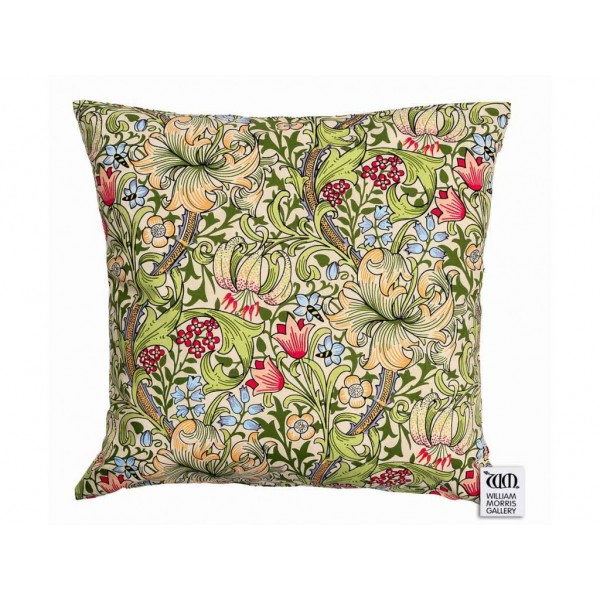 William Morris Gallery Golden Lily Square Filled Cushions