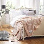 John Atkinson Lambswool Cashmere Blend Champagne Blankets