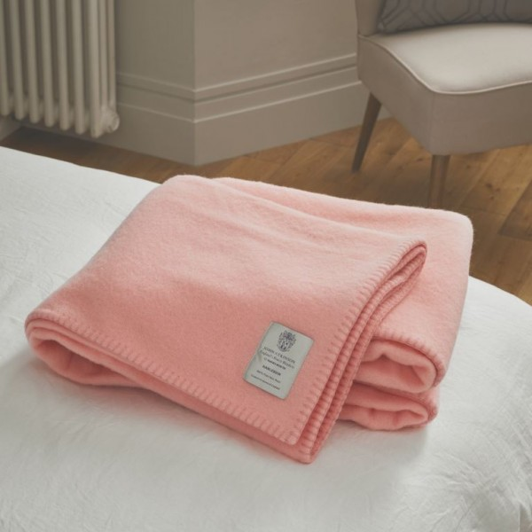John Atkinson Harlequin Woollen Pink Whipped with Pink Blankets