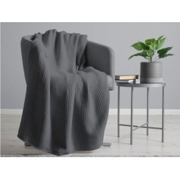 Belledorm 100% Cotton Waffle Charcoal Blanket