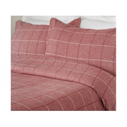 Design Port Acton Brushed Cotton Red Duvet Covers & Pillowcase