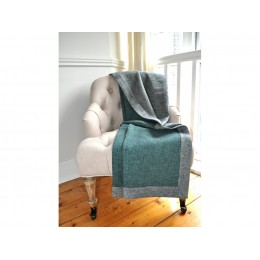 Design Port Grey/Teal Croft Brushed Cotton Throws