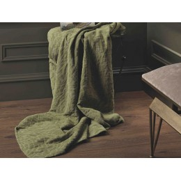 Design Port Cotton Chenille Denzel Olive Green Throw