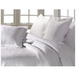 Design Port Forest Jacquard Cotton White Bedspreads and Coordinates