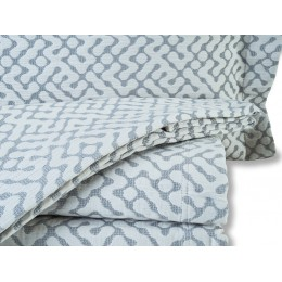 Design Port Hale Jacquard Woven Grey Bedspreads and Coordinates