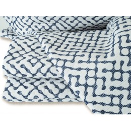 Design Port Hale Jacquard Woven Navy Bedspreads and Coordinates