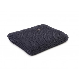 Design Port Harris Navy Cotton Stonewash Throws