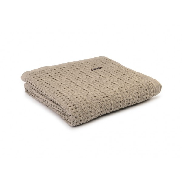 Design Port Harris Taupe Cotton Stonewash Throws