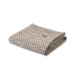 Design Port Jacquard Cotton Kendal Grey Cotton Throws & Cushion