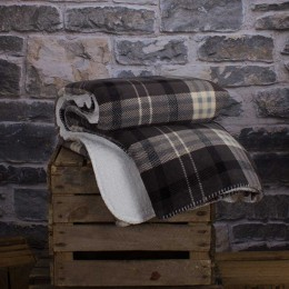 Deyongs Designer Hamilton Check Charcoal Throw