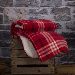 Deyongs Designer Hamilton Check Red Throw