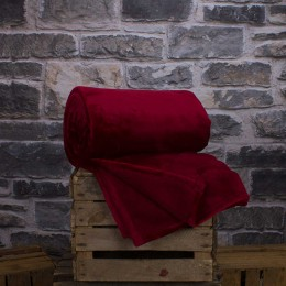 Deyongs Large Hudson Crimson Throw
