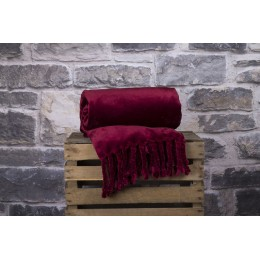 Deyongs 1846 Montana Crimson Throw