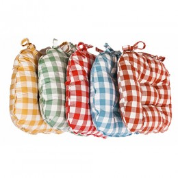 Le Chateau Country Woven Check Seat Pads
