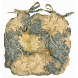 William Morris Chunky Piped Seat Pads Chrysanthemum