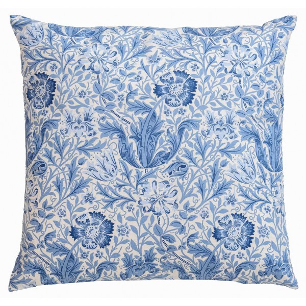 William Morris Gallery Blue Compton Square Filled Cushions