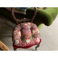 William Morris Extra Large Chunky Piped Seat Pads Strawberry Thief Crimson
