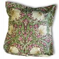 William Morris Oxford Seat Pads Pimpernel Aubergine