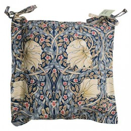 William Morris Oxford Seat Pads Pimpernel Blue
