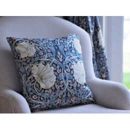 William Morris Pimpernel Blue Square Filled Cushions