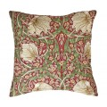 William Morris Square Filled Cushions Pimpernel Red