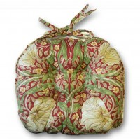 William Morris Chunky Piped Seat Pads Pimpernel Red