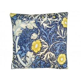 William Morris Square Filled Cushions Seaweed