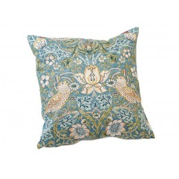 William Morris Square Filled Cushions Strawberry Thief Slate