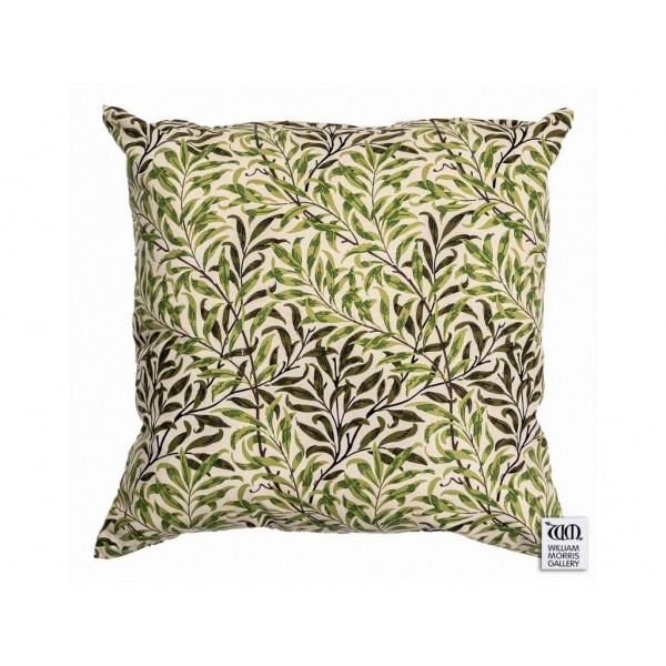 William Morris Gallery Green Willow Bough Square Filled Cushions