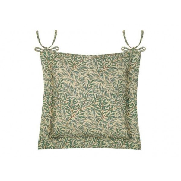William Morris Oxford Seat Pads Willow Bough Green