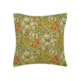 William Morris Square Filled Cushions Golden Lily