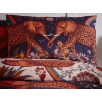 Emma J Shipley Wine/Blush Zambezi Housewife Pillowcase Pairs