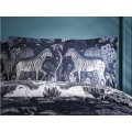 Emma J Shipley Navy/White Lost World Oxford Pillowcase Pairs