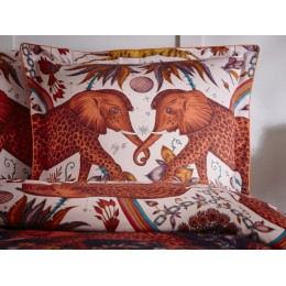 Emma J Shipley Wine/Blush Zambezi Oxford Square Pillowcase