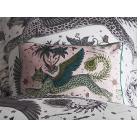Emma J Shipley Blush Lynx Boudoir Pillowcase
