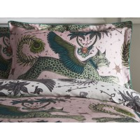 Emma J Shipley Blush/White Lynx Oxford Pillowcase Pairs