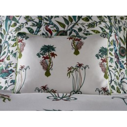 Emma J Shipley White Jungle Palms Small Boudoir Pillowcase
