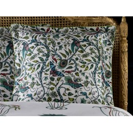 Emma J Shipley White Jungle Palms Oxford Square Pillowcase