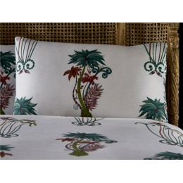 Emma J Shipley White Jungle Palms Housewife Pillowcases