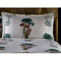 Emma J Shipley White Jungle Palms Oxford Pillowcase
