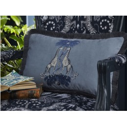 Emma J Shipley Blue Kruger Rectangular Cushion