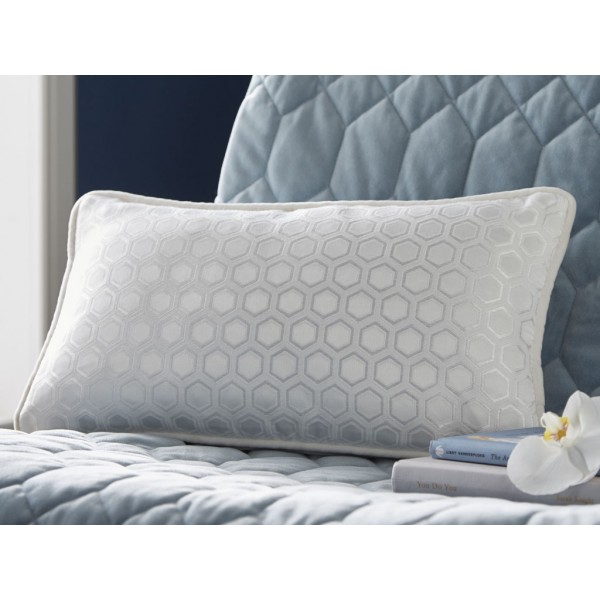 Tess Daly Boudoir Cushion With Hexagon Design