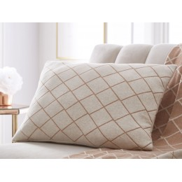 Tess Daly Knitted Diamante Rose Gold Cushion