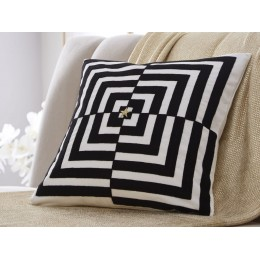 Tess Daly Square Op Art Cushion