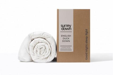 Surrey Down Home White English Duck Down Duvets