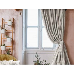 The Chateau by Angel Strawbridge Bamboo Natural Curtains & Tiebacks