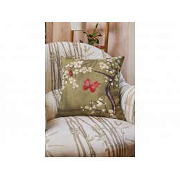 The Chateau by Angel Strawbridge Blossom and Butterfly Basil Cushion
