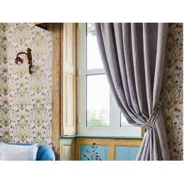 The Chateau by Angel Strawbridge Curtains & Tiebacks Deco Heron Grey