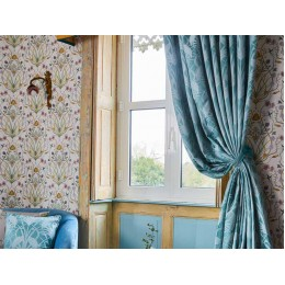 The Chateau by Angel Strawbridge Curtains & Tiebacks Deco Heron Teal
